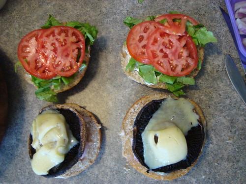 portabello shroom burgers