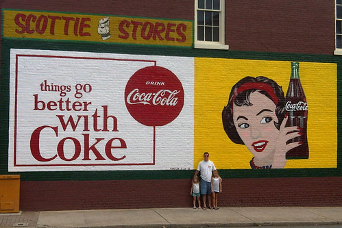 Restored Coke Mural by De'Nick'nise