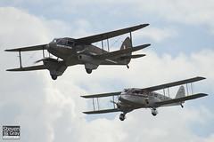 G-ECAN & G-AGJG - De Havilland Australia DH-84A Dragon 3 & De Havlliand DH-89A Dragon Rapide - 110710 - Duxford - Steven Gray - IMG_7923