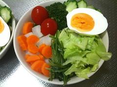 朝食サラダ(2011/7/31)