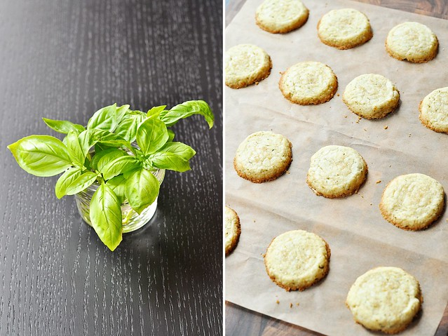 Basil Shortbread Cookies