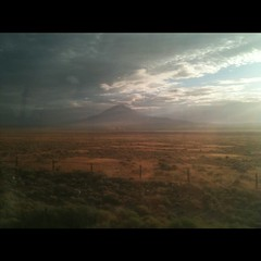 Morning view from California zephyr