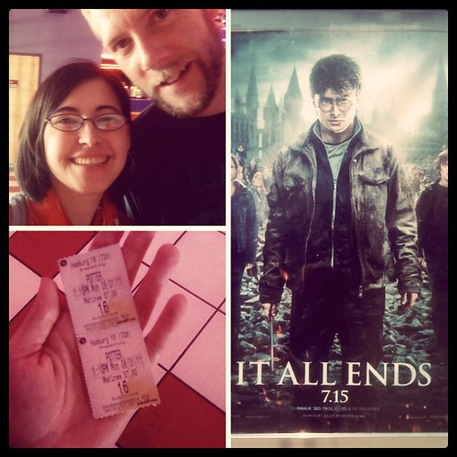 While Liam was with the sitter, Mike and I went on a date to see Harry Potter. :)