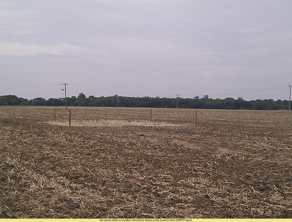 The fenced off are in the clay field in Cambridgeshire