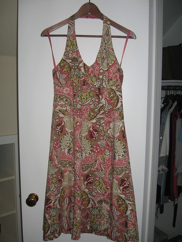 Ann Taylor paisley halter dress