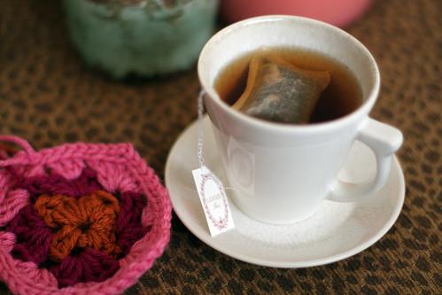Granny Square + Tea