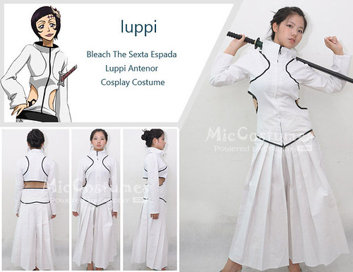 Bleach The Sexta Espada Luppi Antenor Cosplay Costume