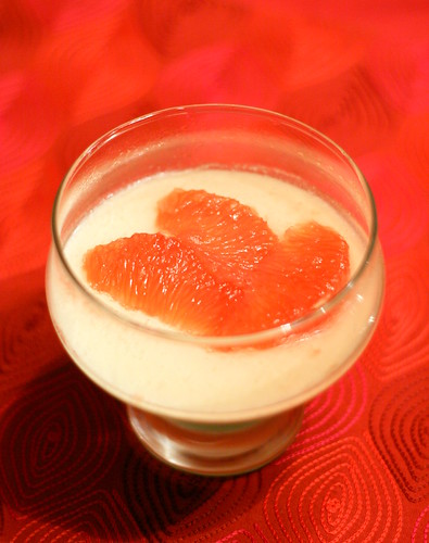 Christmas 2010 St. Germaine Panna Cotta with Ruby Red Grapefruit