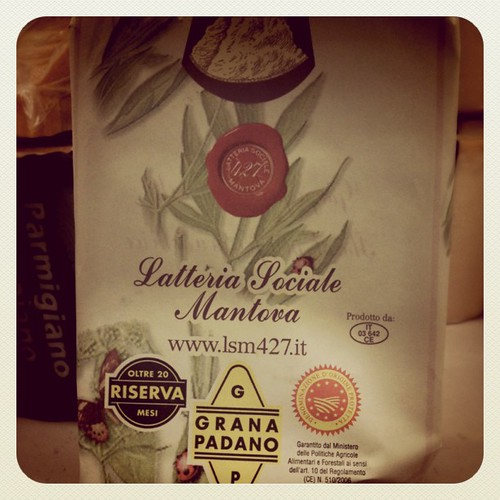 I spotted a pretty Grana Padano packaging while shopping