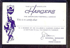 LA Chargers - Gillman Huddle Club Card