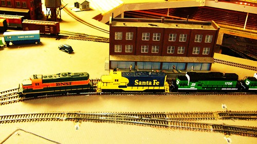 The Oak Park Society of Model Engineers H.O Scale Model Railroad Club. Oak Park Illinois USA. Early August 2011. by Eddie from Chicago