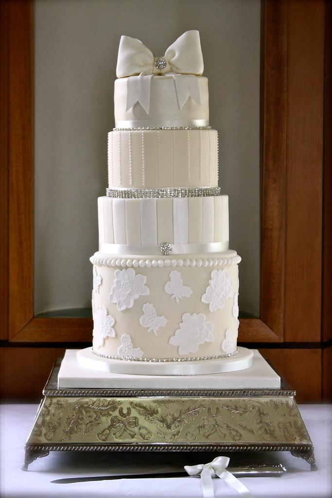Ivory & White Wedding Cake