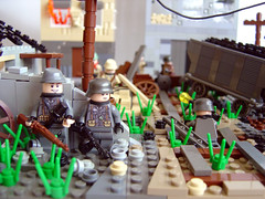 Siege of Stalingrad (1) (Eturior) Tags: world two tractor war lego german ww2 russian railyard siege stalingrad factroy brickarms eturior