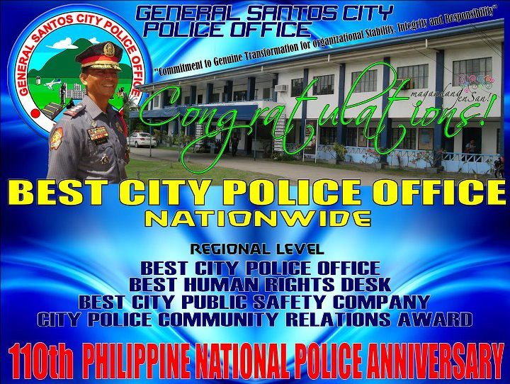 GenSan's finest PNP awarded