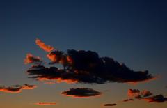 Fuoco e nuvole (La Paletta) Tags: sunset red sky clouds tramonto nuvole nikond50 cielo poesia rosso azzurro atmosfera viaggio fuoco lightblue immaginazione favola
