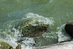 Water on Rocks (tlucal) Tags: park ohio summer water rocks lakeerie wave shorelinepark sanduskyohio crashingwave