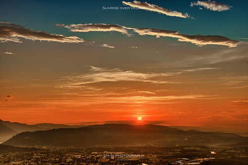 Sunrise over Villach