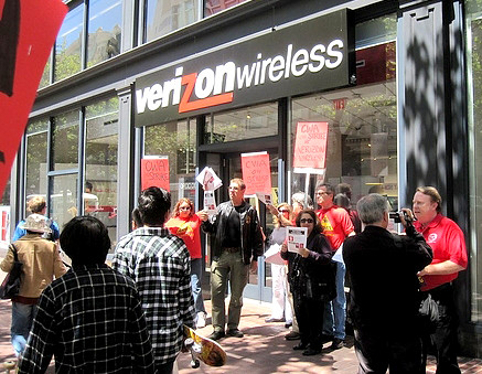 San Francisco Verizon Picket