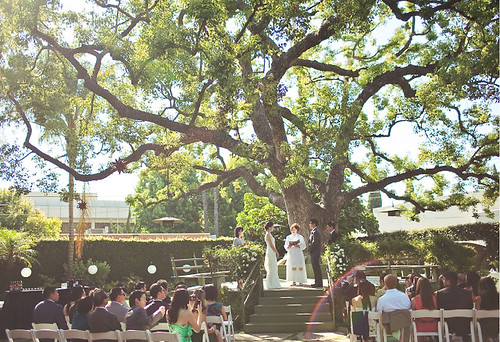 Pasadena garden wedding