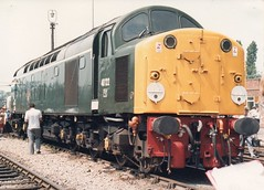 40122 (uksean13) Tags: slr train cheshire diesel 04 1987 engine july rail railway loco scan crewe zenit manual oldphotos openday 40122 creweworks