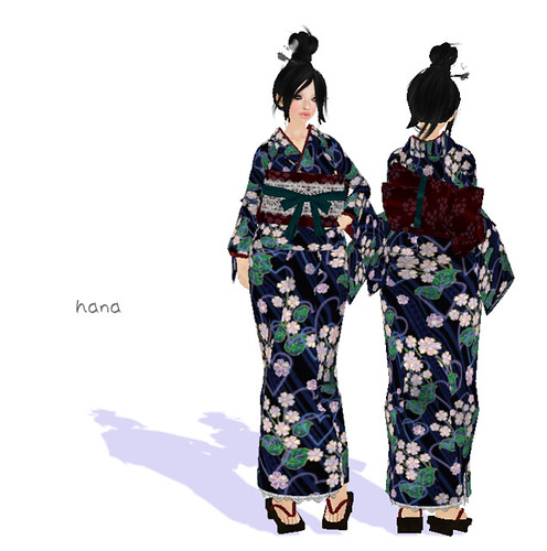 YUKATA set <Houha> **Ruri _SHAKUNAGEDOU(MNK*SHOP)**(50L)