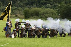 Musket Fire (day_sargent) Tags: history scotland battle battlefield reenactment selkirk livinghistory warfare scottishborders sealedknot philiphaugh
