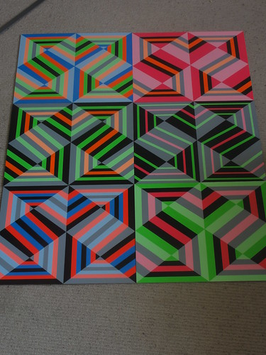 Acrylic on ply.. set of 6 by cashism