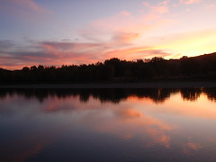 Old Man River Basin Lethbridge (Mr. Happy Face - Peace :)) Tags: sunset sky cloud sun reflection beautiful reflections surise sunrisesunsets