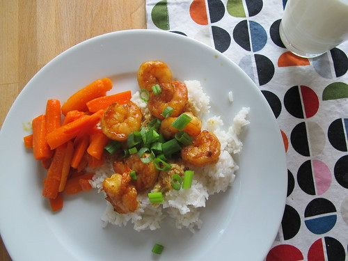 weight watchers:  coconut curry shrimp