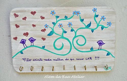 Porta Bijoux de madeira, pintado à mão
