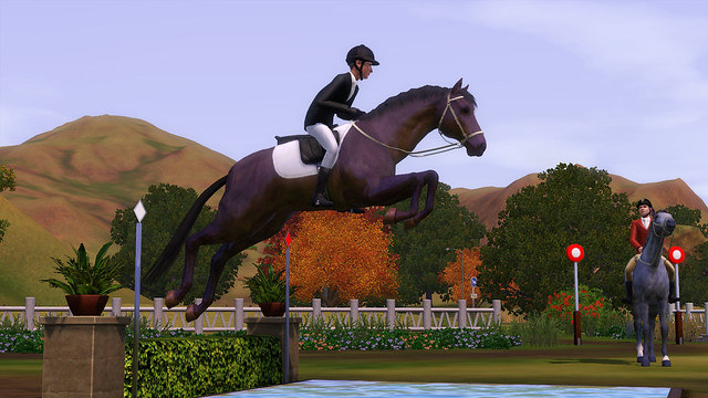The Sims 3 Pets English Horse Jumping