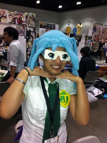 Crochet Blue Wig