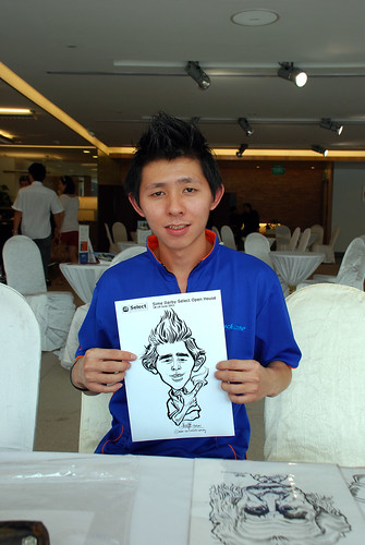 Caricature live sketching for Sime Darby Select Open House Day 2 - 30