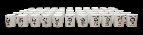 Caricatures printed on mugs for Fisher Scientific - 2