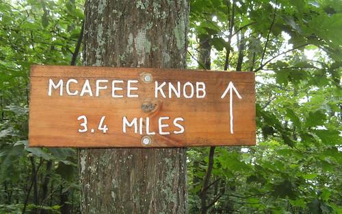 3.4 miles to McAfee Knob