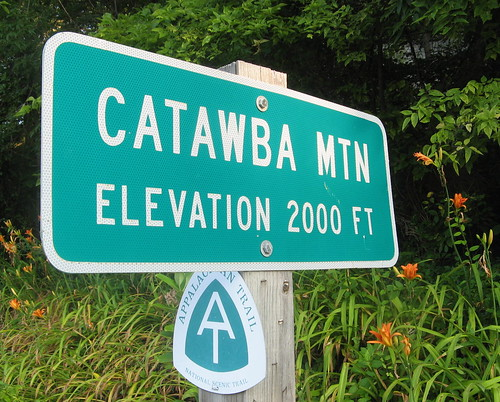 Catawba Mountain sign