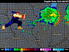 Hadoken on the radar (Andrew Huff) Tags: chicago storm radar streetfighter hadoken looksshopped