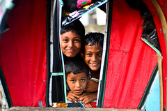 The three musketeers. (A. adnan) Tags: street friends portrait beautiful children colours dof faces bangladesh chittagong nikkor50mmf14d smilingfaces smilingchildren nikon50mmf14d bangladeshiphotographer d7000 peopleofbangladesh aadnan613