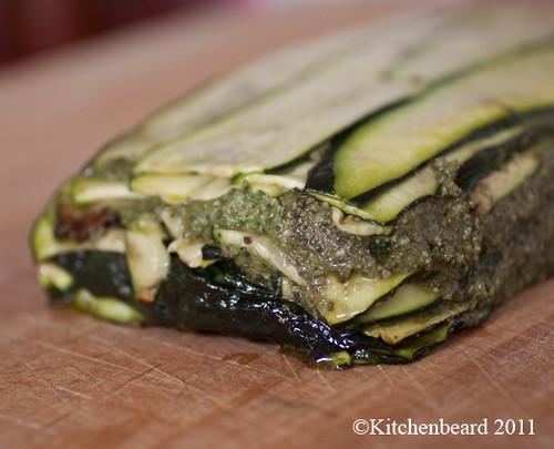 Zucchini Terrine with Thai Basil Pesto