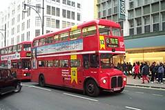 London Central RML2440 (JJD 440D) Oxford Street 2/3/02 (jmupton2000) Tags: aec routemaster rm rml prv go ahead london buses central general jjd440d