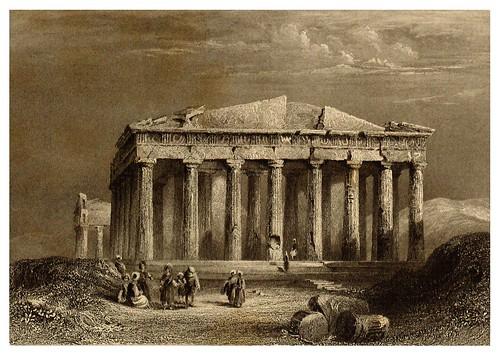 009-Fachada meridional del Partenon-La Grèce pittoresque et historique 1841- Christopher Wordsworth-© Biblioteca de la Universidad de Heidelberg
