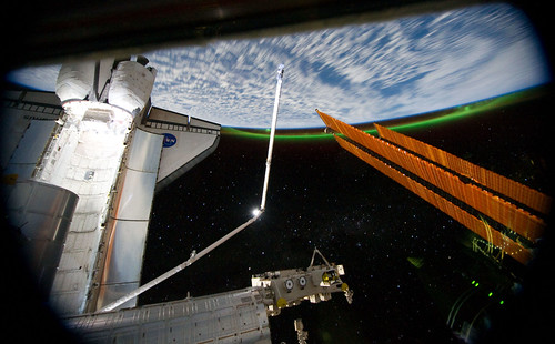 space nasa southernlights auroraaustralis sts135
