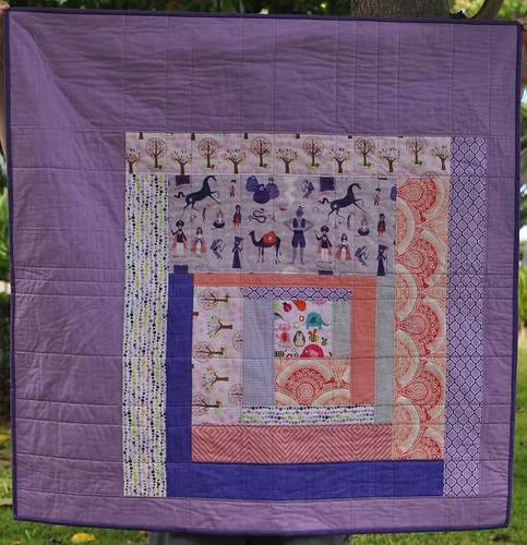 baby girl log cabin quilt