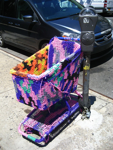 knitted cart and meter