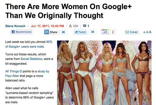 There are more women on Google+ than we originally thought