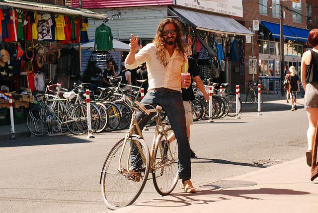 What's it like finding bike parking in Kensington Market?