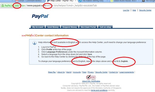 Paypal - unHelpfull Center