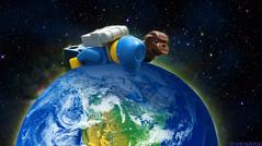 Day 199 (chrisofpie) Tags: chris pie monkey lego doug legos hero heroes minifig roger minifigure bluehat legohero chrisofpie rogeranddoug 365legos dougthechimp