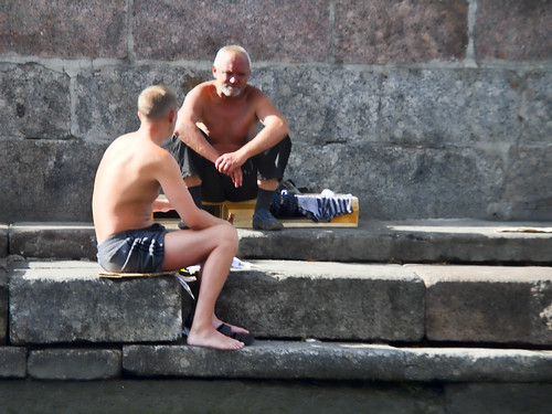 Sunbathing in St. Petersburg