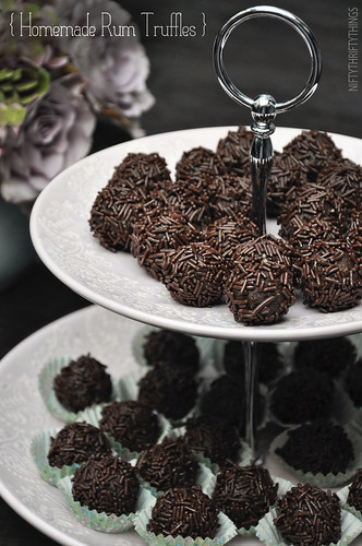 homemade rum truffles} | {nifty thrifty things}